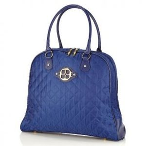 """✨IMAN """"Jet Set"""" Luxe Quilted Nylon Luggage Tote"""